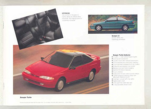 Amazon.com: 1994 Hyundai Elantra GLS Scoupe LS Turbo Excel GL GS Sonata GLS Brochure: Entertainment Collectibles