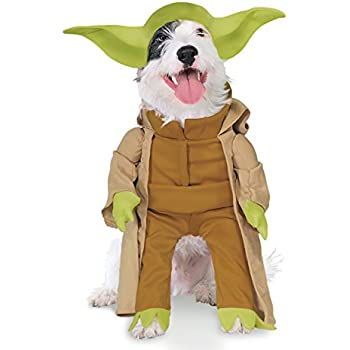 Amazon.com : Rubies Star Wars Classic Jedi Robe Pet Costume ...