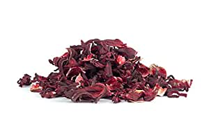 b. Maker Kosher Certified Dried Hibiscus (Whole) for Herbal Teas | 100% Raw Natural Hibiscus Sabdariffa (8 ounce Bag)