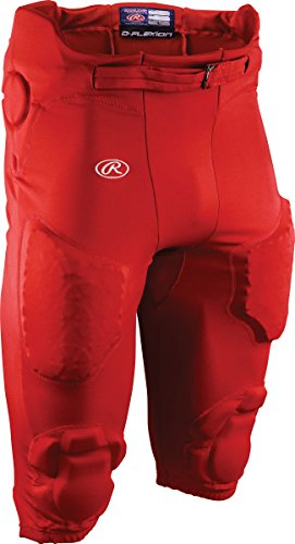 Rawlings Football Pants - Rawlings Sporting Goods Boys D-Flexion Integrated Football Pants, X-Small, Scarlet