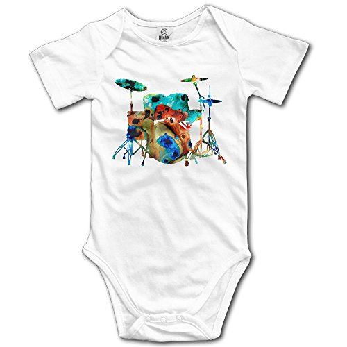 Edepon Baby The-Drums-Music-Art-by-Sharon-Cummings-Sharon-Cummings Cotton Infant Onesie Baby