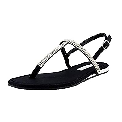 06068937bd6 Elle Euro Club Women Black Open Toe Flat Sandal 39  Buy Online at ...