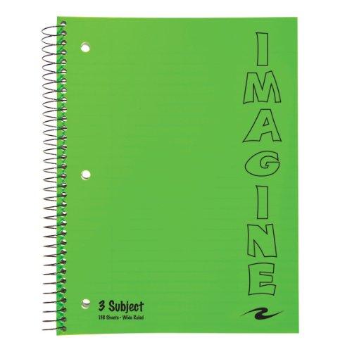 Roaring Spring Paper Three Subject Imagine Notebook, 10.5...