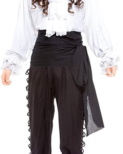 Pirate Medieval Renaissance Linen Large Sash [Black]]()