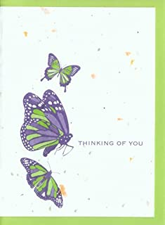 product image for Grow A Note® Thinking of You Butterflies Cards 4-Pack