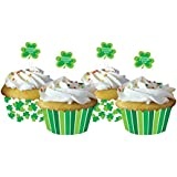 Shamrock Cupcake Wrappers with Toppers