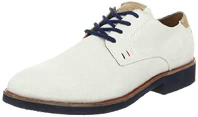 Tommy Hilfiger Men's Tmleno Oxford,White Multi Suede,7 M US