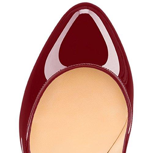 Guoar - Scarpe chiuse Donna, (rosso), 36