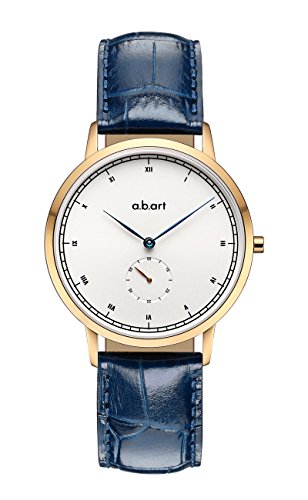 a.b.Art Blue Lady Watch FG36-001-5L Roman Numerals Window Stainless Steel Watches for Women by a.b.art