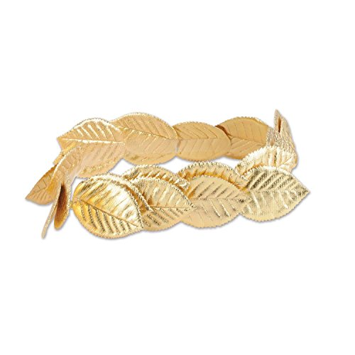 Club Pack of 12 Fabric Roman Laurel Wreath Head Band Costume Accessories - One Size