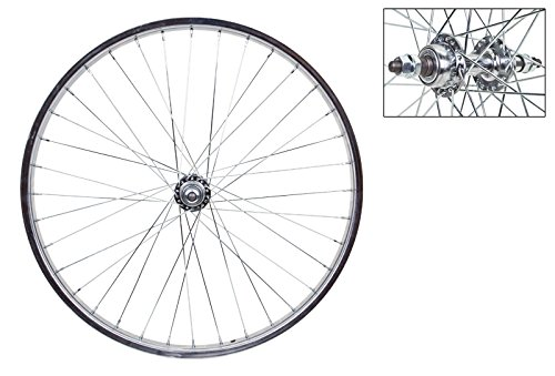 Wheel Master Rear Bicycle Wheel 24 x 1.75 36H, Steel, Bolt On, Silver by WheelMaster
