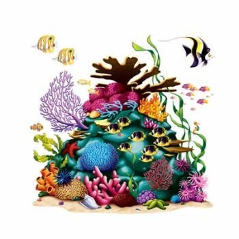 Beistle Home Decorative Seasonal Party Accessory Under the Sea Coral Reef Prop 3 Fish Included Insta Theme 5' 3