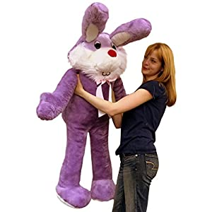 American Made Giant Stuffed Bunny 50 Inch Soft Purple Big Plush Rabbit Made in USA - 41d 2BGCArYYL - American Made Giant Stuffed Bunny 50 Inch Soft Purple Big Plush Rabbit Made in USA