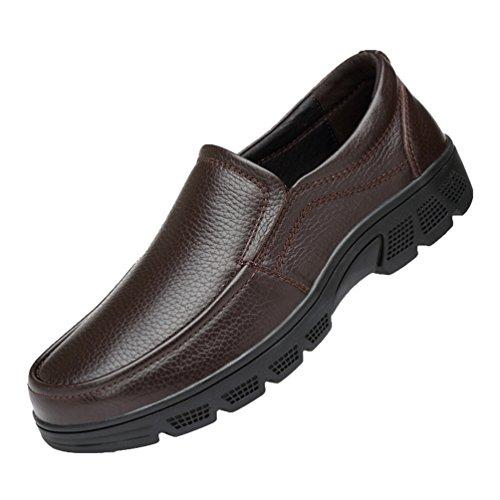 Sans Lacet Chaussures Faux Mocassins Homme Chaussure Cuir Ville Décontractée 1 Marron Affaires Yiiquan q08YS