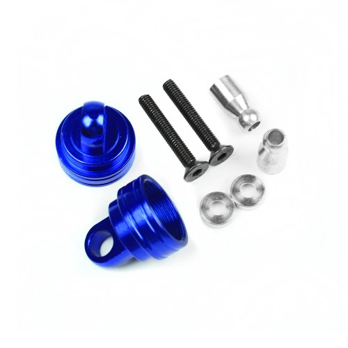 Atomik RC Alloy Ultra Shock Cap, Blue fits the Traxxas 1/10 Slash 4X4 and Other Traxxas Models - Replaces Traxxas Part 3767