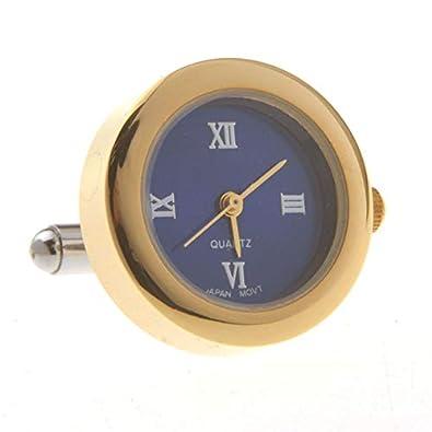 SWXCufflinks Mancuernas de Acero Inoxidable Manecillas de Reloj de ...