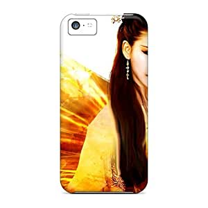 Hot AhF1459EXnc Case Cover Protector For Iphone 5c- Butterfly Angel