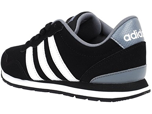 adidas V Jog K, Zapatillas Unisex Niños Negro (Negbas/ftwbla/gris)