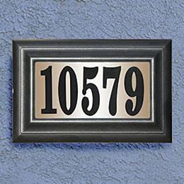 Elegant 24-Volt Classic Lighted Address Plaque For Address Numbers (Lighting Address Number)