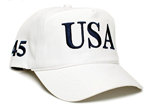 White Cap Back To Back World War Champs USA 45 Trump Make America Great Again Embroidered hat One Size Adult Red