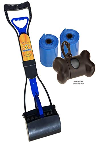 (New Complete Poo Pack | Pooper Scooper, Poop Bags, and Pet Dog Waste Bag Holder (Blue))