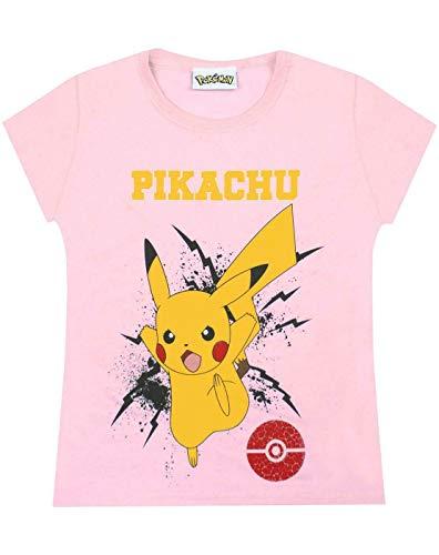 Pokemon Pikachu Bolt Girls Kinder roze T-shirt top