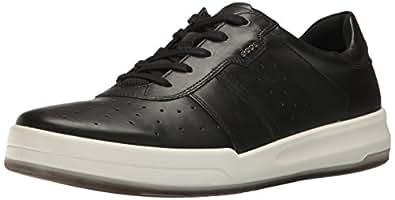 ECCO Men's Jack Fashion Sneaker, Black/Black, 39 EU/5-5.5 US