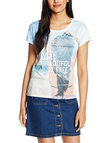 Only Onlmanja S/S Chill/Wild Top Box Ess, Camiseta para Mujer Mehrfarbig (Bright White Print:WILD)