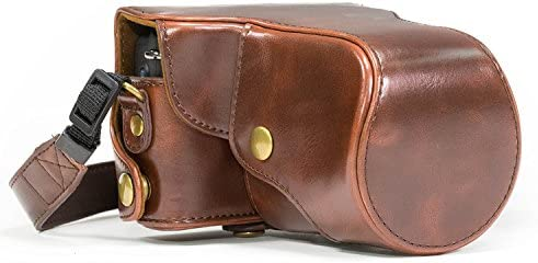 Faux Leather Protective Case Bag in Vintage Black for Canon EOS M5