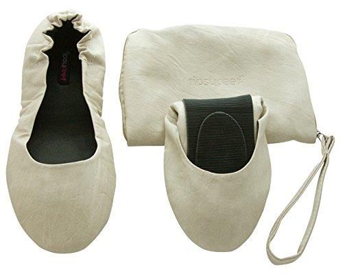 Ballerines Chaussures Tipsyfeet Pliable Classique À Danse Plat Ballet Nude aq8wHT