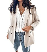Asvivid Womens Casual Pocketed Office Blazers Draped Open Front Cardigans Jacket Work Suit