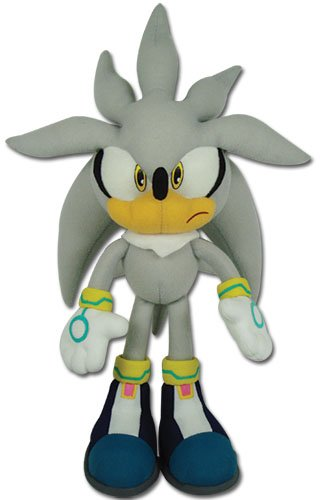 "Great Eastern GE-8960 Sonic The Hedgehog 13"" Plush Doll, Sil"
