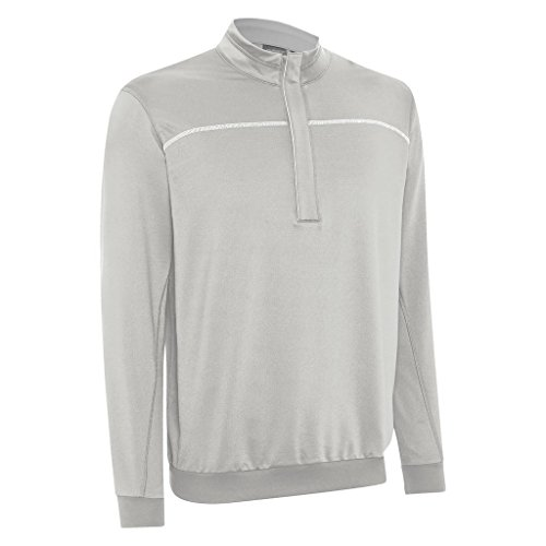 Ashworth 2015 Performance EZ-SOF Wind-Lined Half Zip Thermal Sweater Mens Golf Pullover Pebble Small