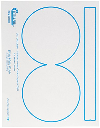 Continental Compulabel White CD/DVD Labels for Laser and ...