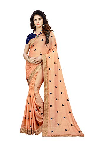 Peach Women Party Traditional Sarees Designer Indian Wear Sari For 9EDH2I