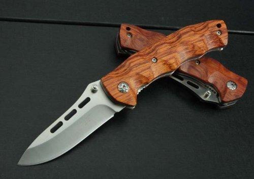 J.C.H. KT35 Rosenholz Holzgriff Klappmesser Jagdmesser Überlebensmesser Taschenmesser Hunting Folding knife