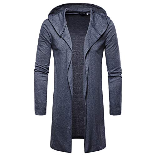 Cotton Cardigans for Men,Realdo Casual Autumn Winter Solid Slim Trench Coat Jacket Long Sleeve Outwear
