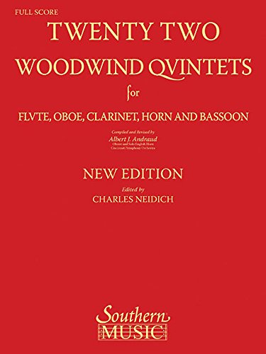 - 22 Woodwind Quintets - New Edition (The New York Woodwind Quintet Library Series)