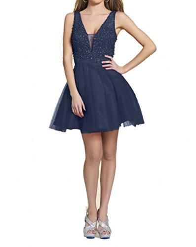 Tanzenkleider Perlen Cocktailkleider Mini Rot Abendkleider Blau Damen Abschlussballkleider Navy Charmant qxFvwO0n