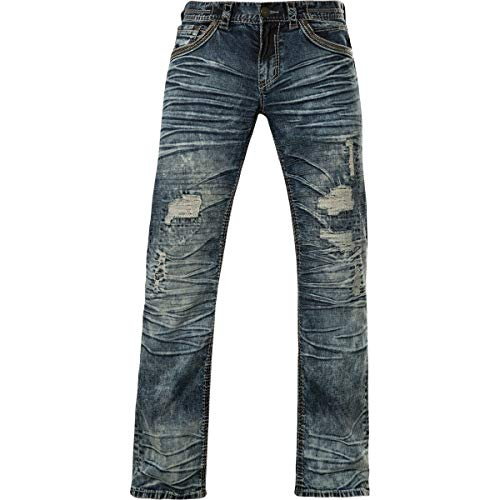 Affliction Blake Fleur Quincy Relaxed Straight Denim 36 (Jacket Custom Denim)