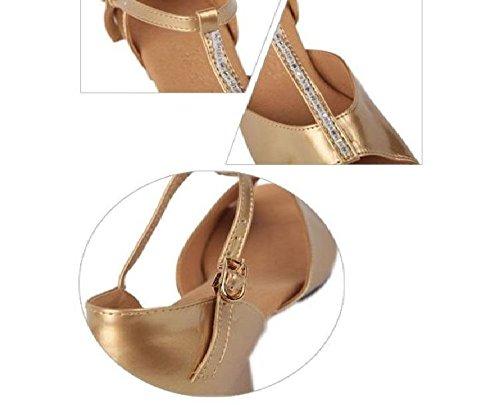 Performance for Shoes Ballroom Professional Latin Girls Yao Women Shoes Gold Dance Salsa Tango q0waqSzn