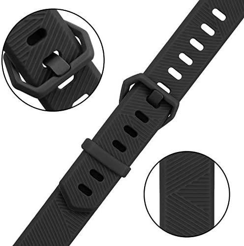 Pack 3 Replacement Band Compatible for Fitbit Alta Bands/Fitbit Alta HR Bands, Adjustable Replacement Soft Silicone Sport Bands for Woman and Men (Large, Black+Grey+Navy Blue) 2