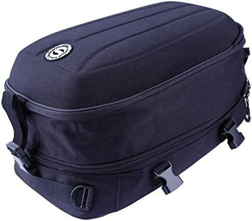 La cola de la motocicleta bolsa impermeable Moto Bolsas de una silla multifuncional equipaje almacenaje del casco de montar a caballo de mochila, material de tela Oxford / 22L-30L Capacidad expandible