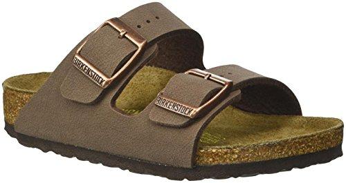 Toddler Black Nubuck Footwear - Birkenstock Arizona Birko-Flo Mocha Birkibuc Sandals - 27 EU(9-9.5 M US Toddler)