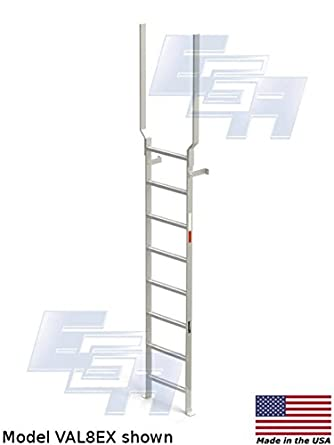 Vertical de aluminio escalera con barra de extensión (8 peldaños, 135 cm) por productos Ega – un ligero resistente escalera [fabricadas en Estados Unidos]: Amazon.es: Amazon.es