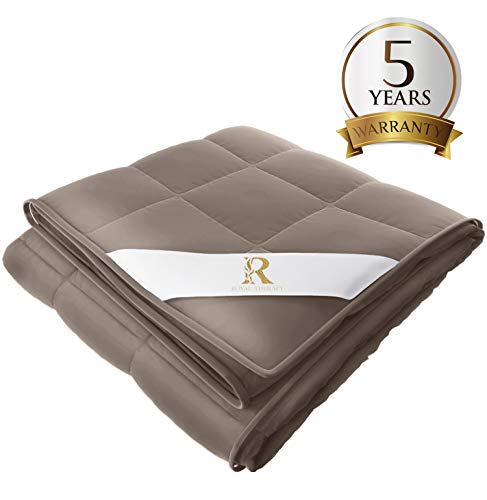 Royal Therapy Weighted Blanket (36''x48'' 5lbs, Texas Leather)