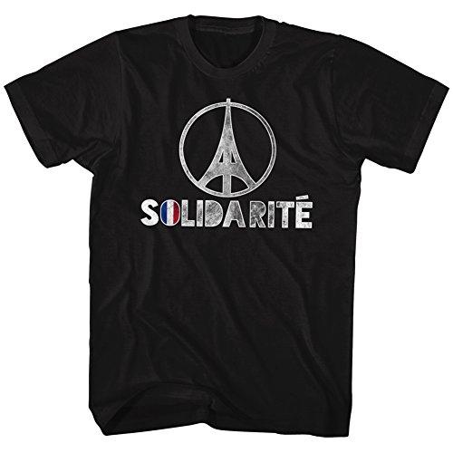 Solidarité Paris Détresse En Homme shirt Noir Tee Eiffel Moitié Pour 2bhip Solidarite Tour Aqwn6RFxIt