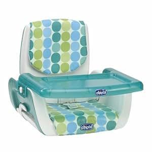 Chicco 07079036360000 Mode Kiwi - Elevador de asiento con bandeja (ajustable a 3 alturas), color verde