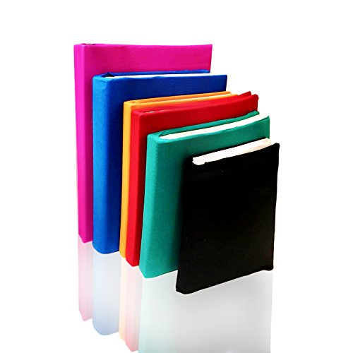 Stretchable Jumbo Book Covers set of 6 individual colors