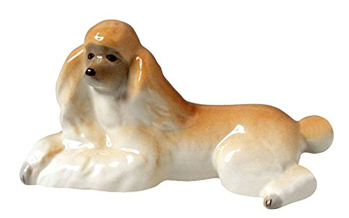 Poodle Relaxing Apricot Colored Lomonosov Porcelain Collectible Figurine